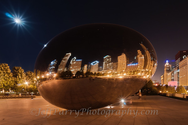 Cloud Gate night fusion